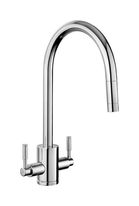 Rangemaster Pull Out Aquatrend Dual Lever Kitchen Tap