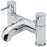 Tre Mercati Chrome Milan Pillar Bath Filler 63040 Full View