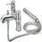 Tre Mercati Chrome 63055 Milan Pillar Bath Shower Mixer Complete with Kit Full View