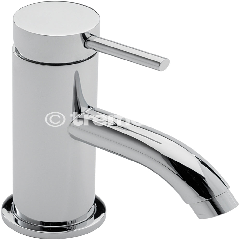 Tre Mercati  Chrome 63063 Milan Mini Mono Basin Mixer with Click Clack Waste Full View