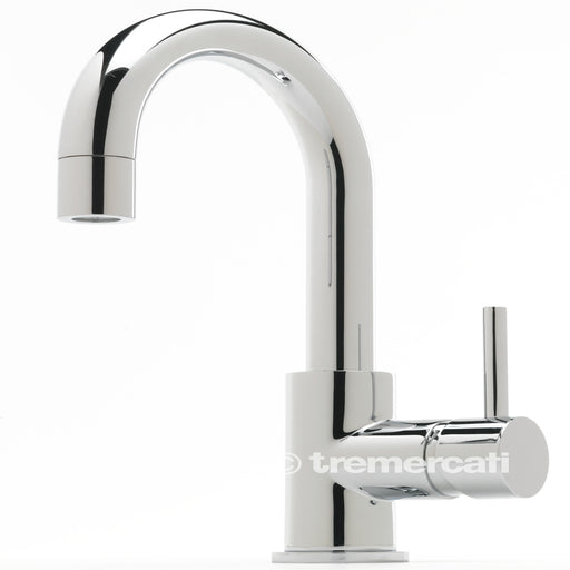 Tre Mercati Milan Chrome 63073 Side Lever Mono Basin Mixer With Click Clack Waste Front View