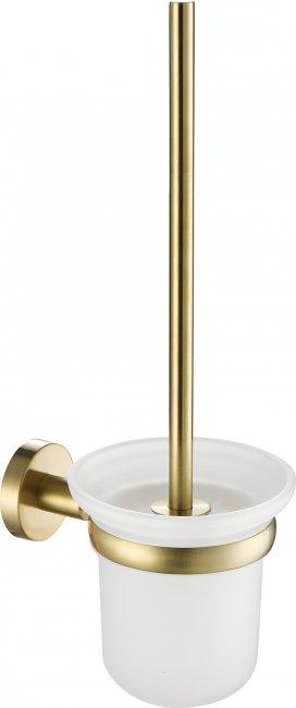 VOS brushed brass toilet brush