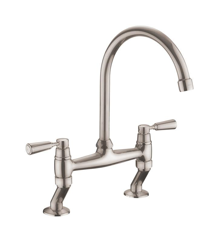 Rangemaster Traditional Dual Lever Bridge Kitchen Tap