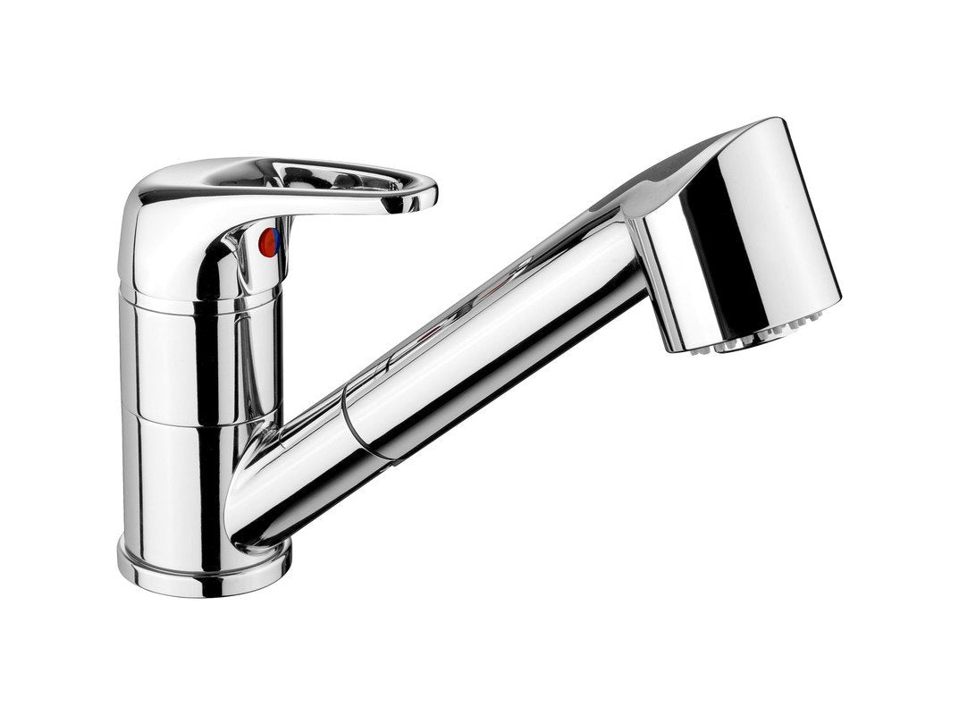 Rangemaster Pull Out Aquaspray 3 Single Lever Chrome Kitchen Tap