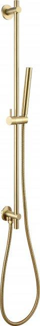 VOS brushed brass slide rail with single function hand shower and hose, LP 0.2