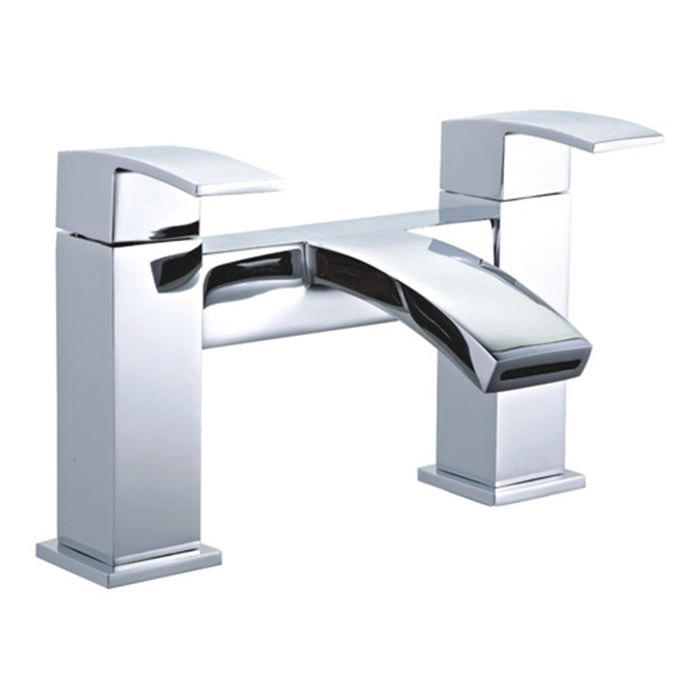 Mayfair Colorado CLD009 Chrome Waterfall Spout Colorado Bath Tap Front View