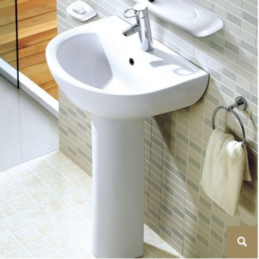 ELE004 Elegance Basin Sink with Pedestal Side View