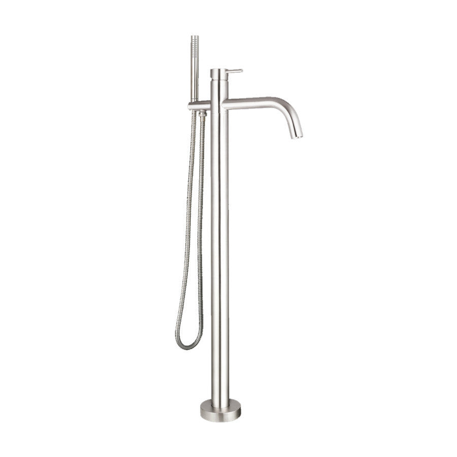 Just Taps Inox Floor Mounted Bath Shower Mixer Tap & Kit IX534 ...
