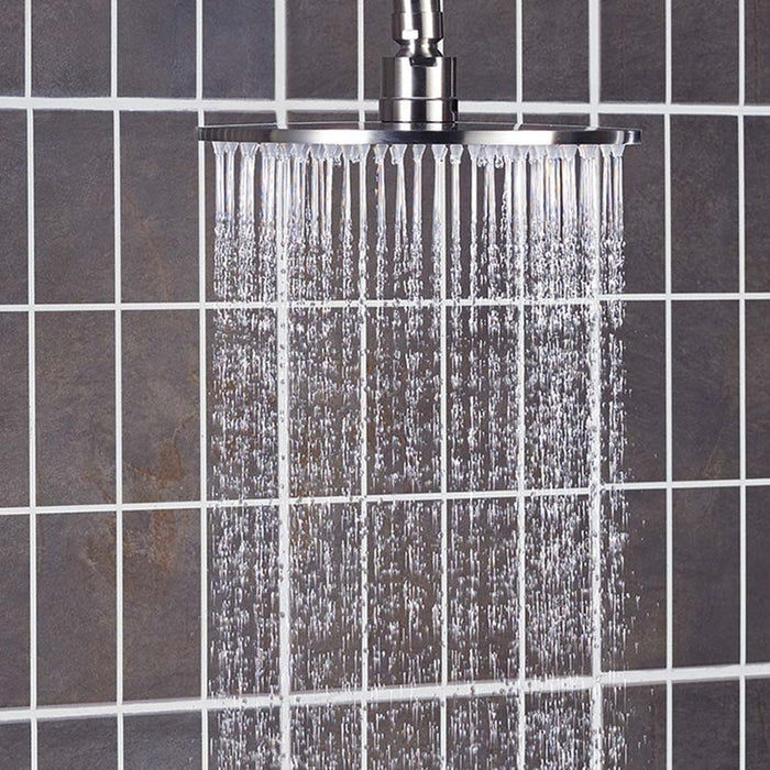 Inox IX200 Stainless Steel Fixed Shower Head Side View