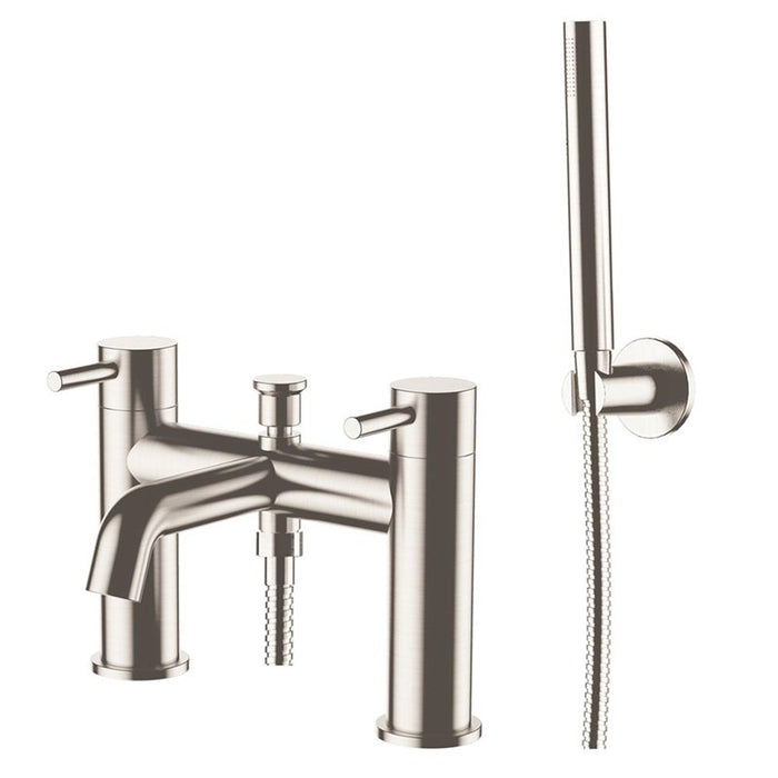 Front View of Inox Stainless Steel Bath Shower Mixer Tap & Kit - IX275