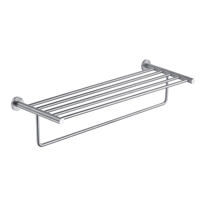 Front View of Inox Towel Shelf and Rail - IX181