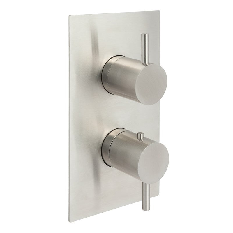 Just Taps IX681A Inox 3 Outlet Shower Valve Front View