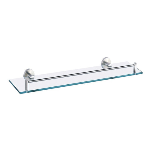 Front View of Just Taps Inox Glass Shelf