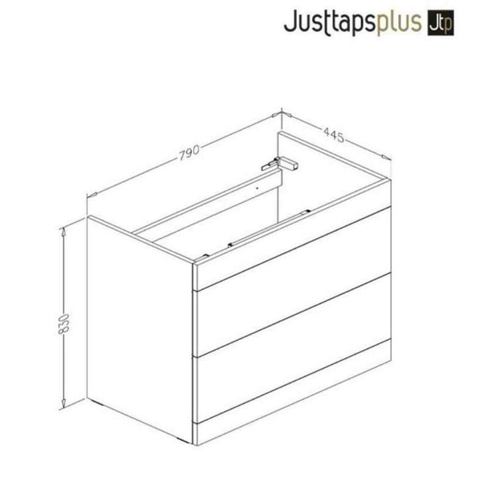 Just Taps PFS801GR+P800BS Grey Floor Mounted unit with Two Drawers and Basin Dimensions