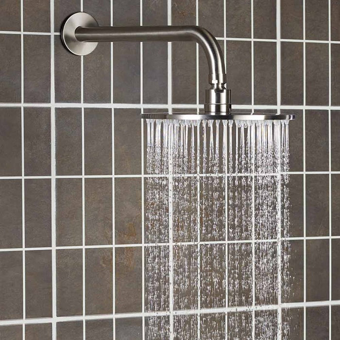 Just Taps Inox IX300 Thin Overhead Shower Side View