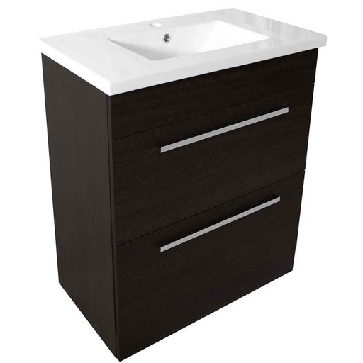 just Taps PFS801BK+P800BK Pace 800 Black Floor Standing Unit with two drawers and basin