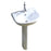 Just Taps SIM002 Simplicity Porcelain Full Pedestal Basin Front View