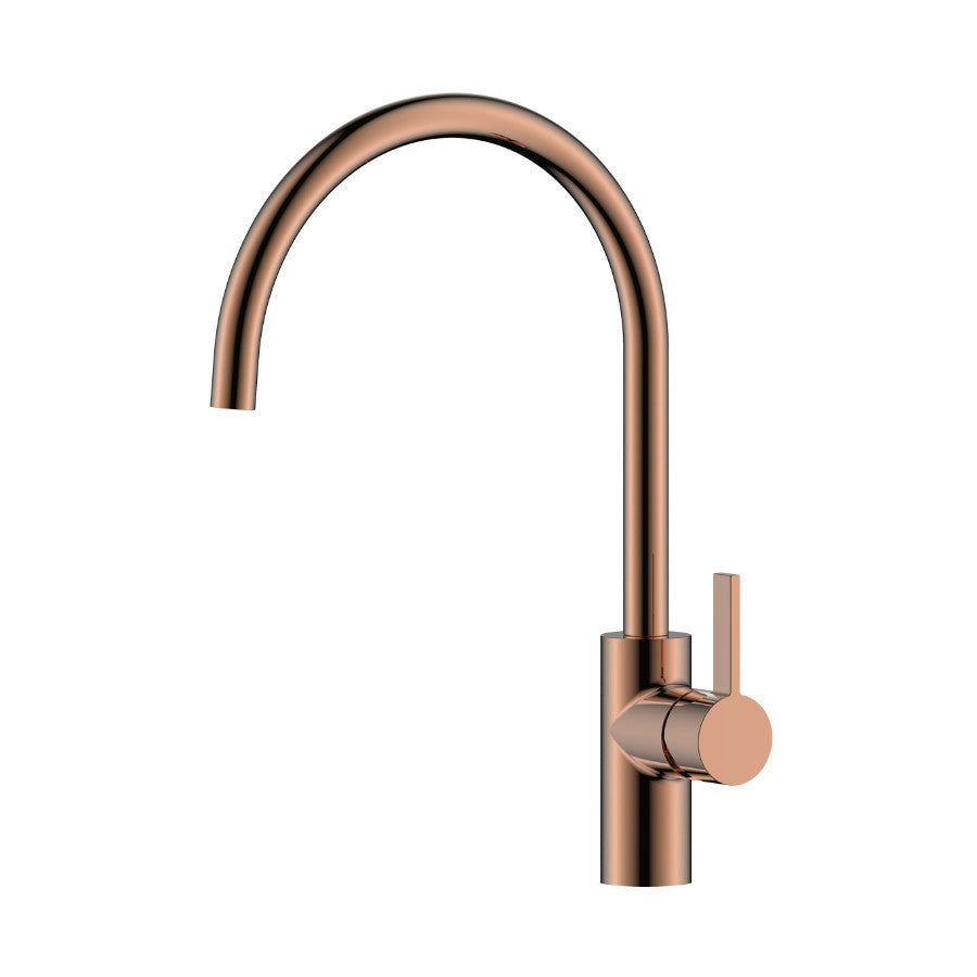 Front Photo Of JustTaps RG181 Rose Gold Mono Kitchen Mixer Tap Model Number RG181