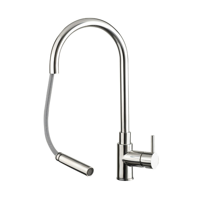 Front Photo Of Just Taps Zecca Pull Out Spout Kitchen Mixer Tap ZAS181