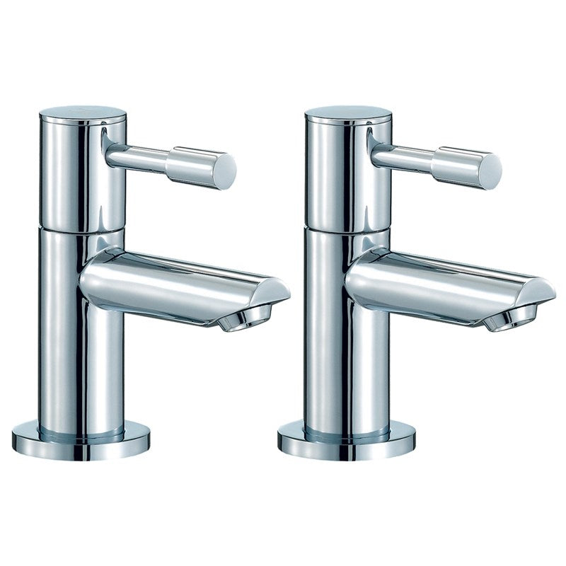 Series F 2 Hole Basin Pillar Taps Front View