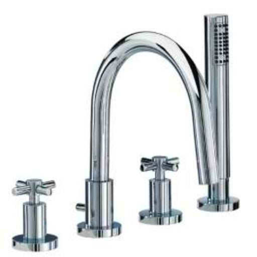Mayfair SCX047 Series C Chrome Four Hole Bath Shower Mixer Tap Front View