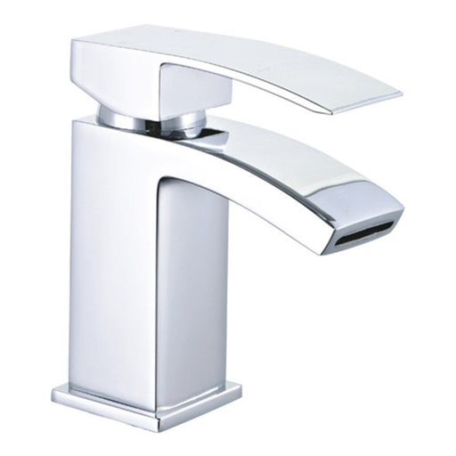 Mayfair CLD009 Colorado Chrome Monobloc Basin Sink Mixer Tap photo with a white background, image is taken from the side