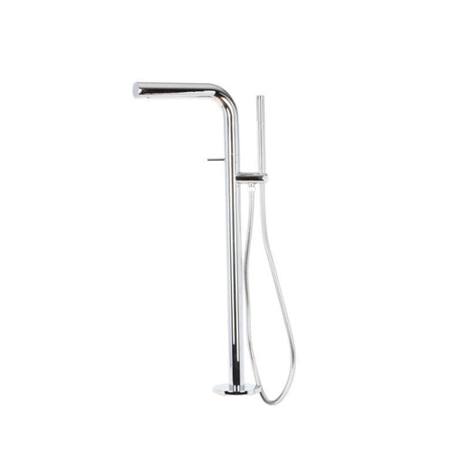This image shows Mayfair LOB073 LOBO Bath Filler Tower With Shower Mixer Tap with a white background