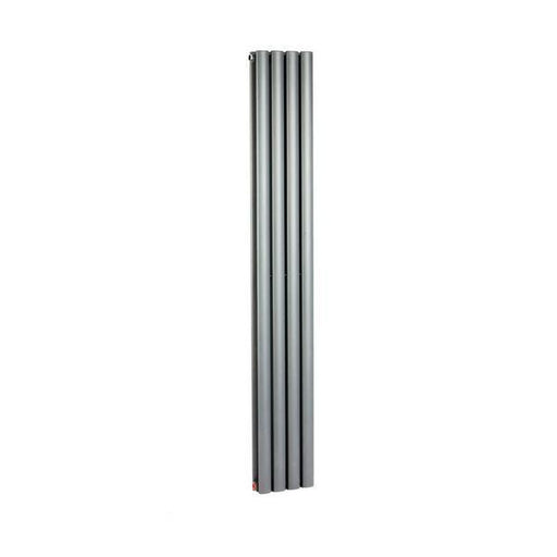 Mayfair Sahara anthracite vertical wall radiator SAH4/1600DA photo with a white background