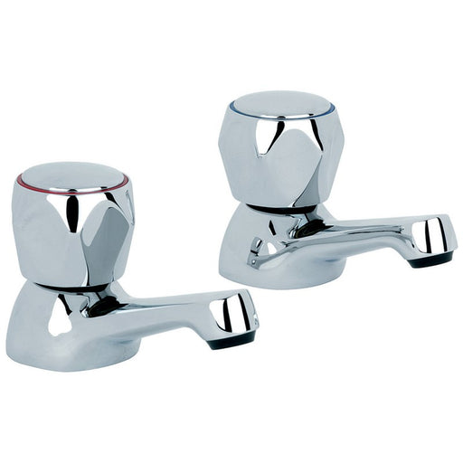 photo of mayfair alpha AL001 pair of traditional basin mixer taps