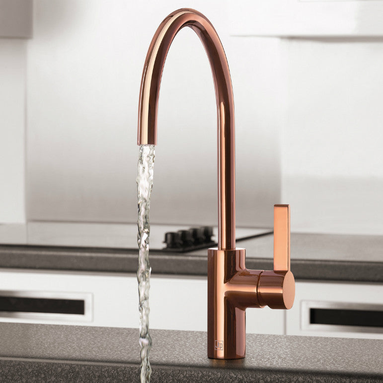 ... At Home Photo Of A Rose Gold Kitchen Mixer Tap Model Number RG181 ...