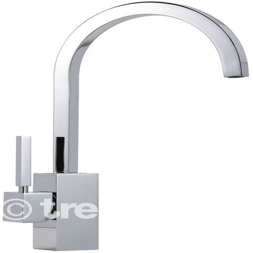 Tre Mercati Chrome Domino Mono Sink Mixer Domino-093 Front View