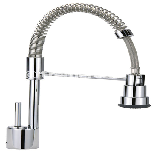 Tre Mercati Chrome Espresso Professional Mono Sink Mixer With Flexible Spray EXP-051 Front View