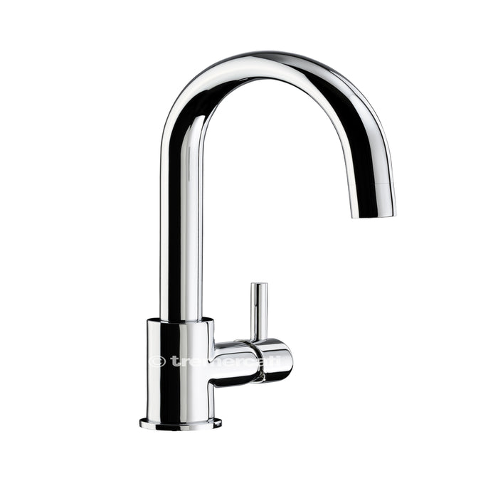 Tre Mercati Chrome Kitchener Mono Sink Mixer 91030 Front View