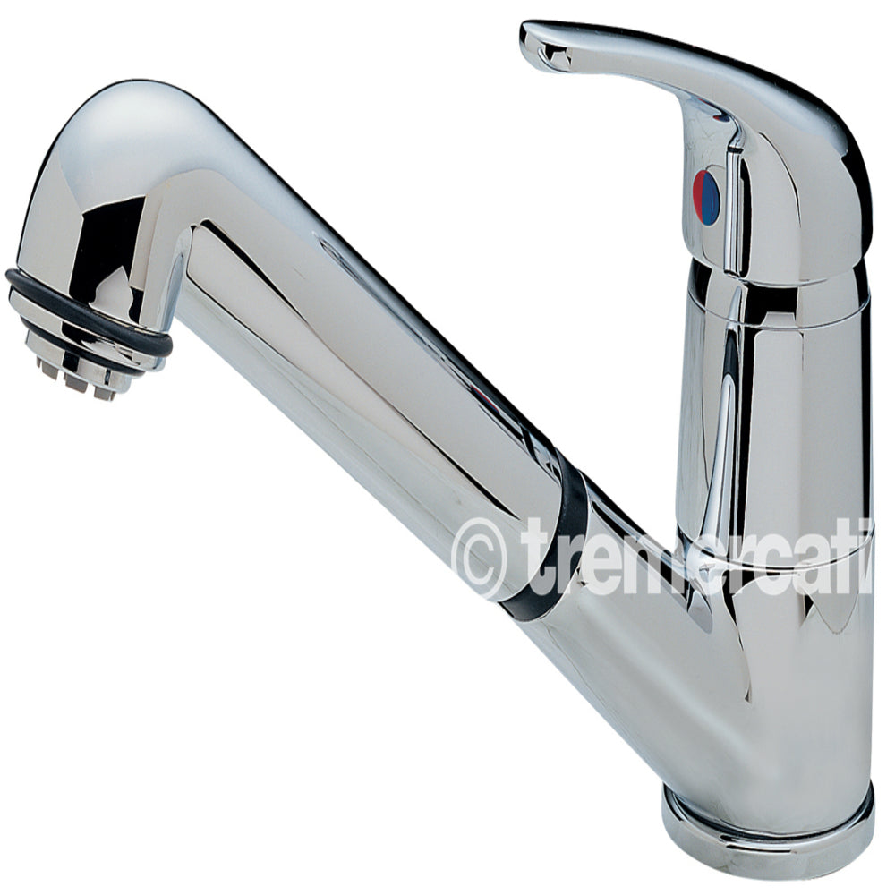 Tre Mercati Chrome Modena Standard Dual Flow Mono Sink Mixer 173 Front View