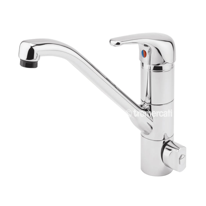 Tre Mercati Chrome Technic Mono Sink Mixer With Built In Water Filter 90040 Front View
