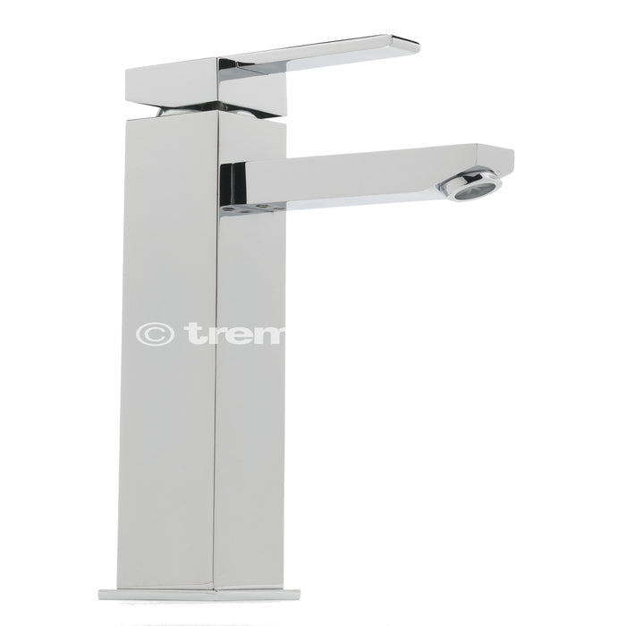 Tre Mercati Chrome Vespa Extended Mono Basin Mixer 45060 Front View