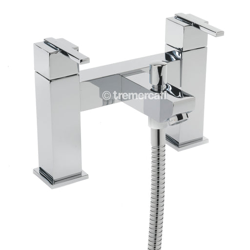 Tre Mercati Chrome Vespa Pillar Bath Shower Mixer With Kit 45055 Front View