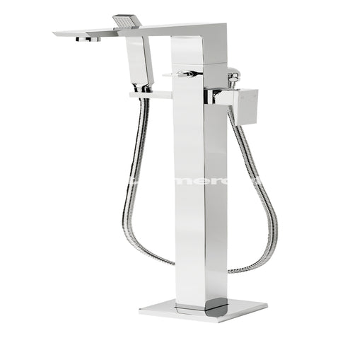Tre Mercati Chrome Wilde Floor Mounted Bath Shower Mixer With Kit 47056 Front View
