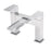 Tre Mercati Chrome Wilde Pillar Bath Filler 47040 Front View