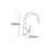 Tre Mercati Solar Pluto-Lite Mono Sink Mixer With Pull Out Spray 93010 Dimensions