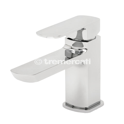 Tre Mercati Vamp Mono Basin Mixer With Click Clack Waste 43075 Front View