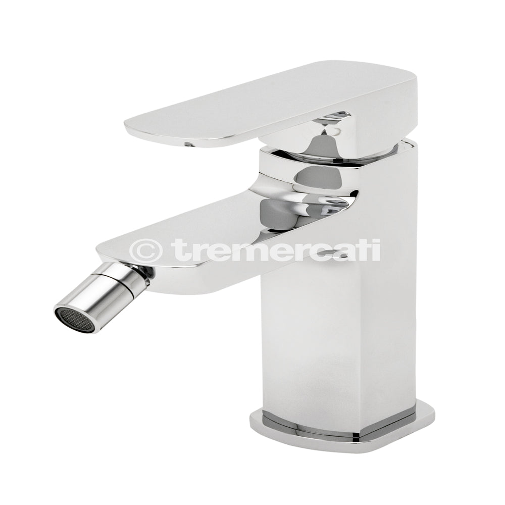 Tre Mercati Vamp Mono Bidet Mixer With Pop-Up Waste 43080 Front View