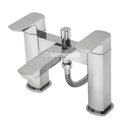 Tre Mercati Vamp Pillar Bath Shower Mixer Complete With Kit 43050 Front View