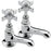 Tremercati 1071 Chrome Imperial Pair of Basin Taps Full View