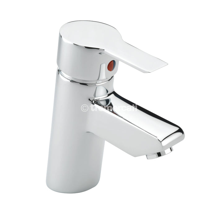 Tremercati 22175 Chrome Angle Mono Basin Mixer with Click Clack Waste