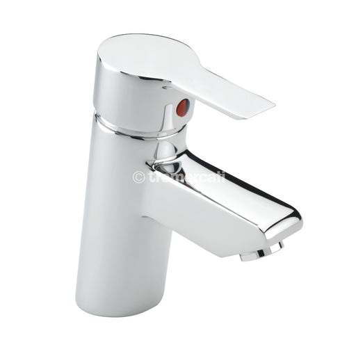 Tremercati 22170 Angle Chrome Mono Basin Mixer with Pop-Up Waste