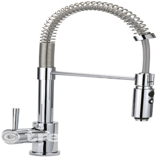 Tre Mercati Chrome Cappuccino Mono Kitchen Mixer EVO-091 Front View