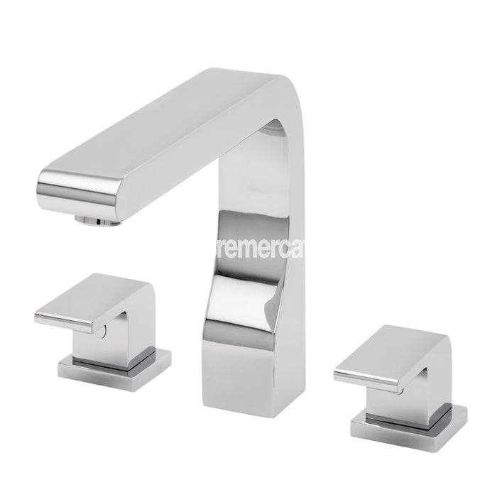Tre mercati 41045 Chrome Rubik 3 Hole Deck  Bath Filler Front View
