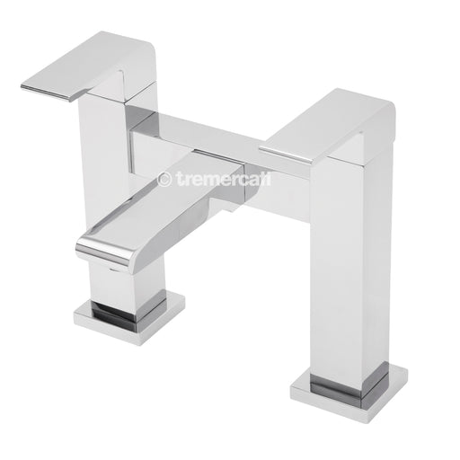 Tre Mercati Chrome 41040 Rubik Pillar Bath Filler Front View