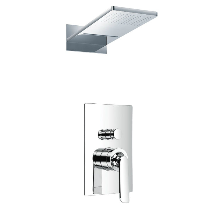 Just Taps 77079 / 7790 Cascata Overhead Shower & Valve Front View
